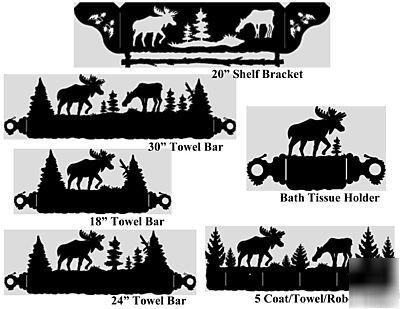 Pcm Dxf Cnc Plasmacam Files Bath Set Towel Bars Moose