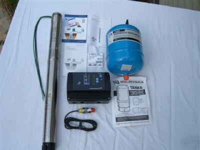 1hp 22gpm Grundfos Submersible Deep Well Pump System