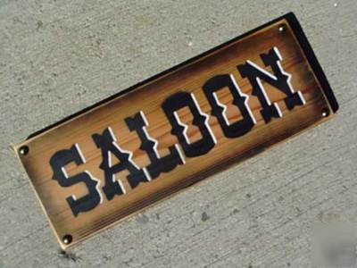 Saloon Rustic Western Cedar Sign Old West Home Decor