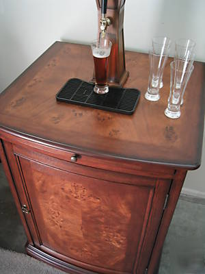 Kegerator Beer Beverage Bar Fridge Cooler Wood Cabinet