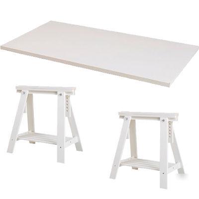 New Ikea Vika Drawing Drafting Table Desk Trestle Shelf