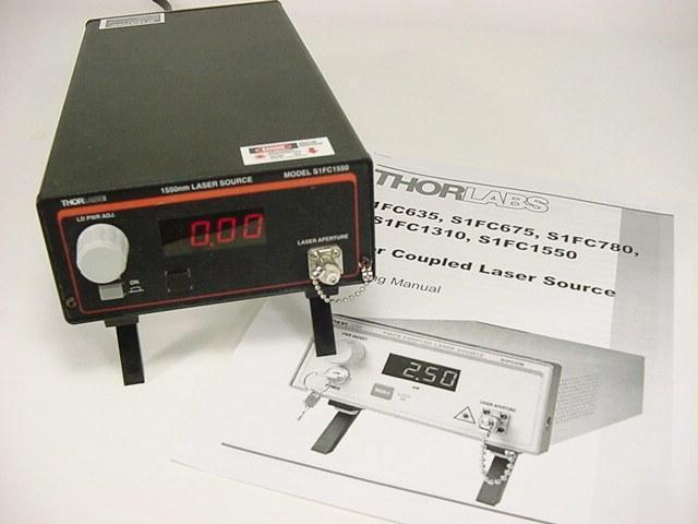 Thorlabs S1FC1550 fiber coupled laser source 1550NM