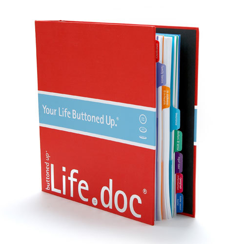 Life.doc Life Life.doc Organizer by Buttoned