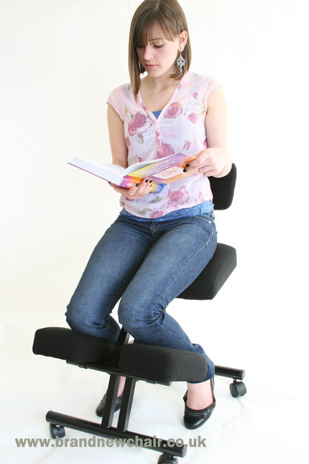 Super thick ergonomic kneeling office chair with back