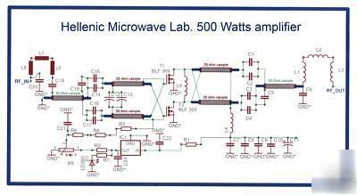 140-150 mhz rf power amplifier pallet vhf 500 watts
